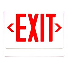 LED Exit Sign with Remote Capability in Red