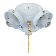 Three Light Ceiling Fan Light Fitter