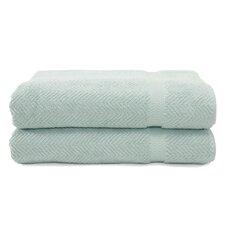 Herringbone Weave 100% Turkish Cotton Bath Towel (Set of 2)