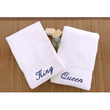 Luxury Hotel and Spa Personalized King and Queen Hand Towel (Set of 2)