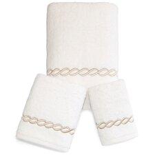 Cadena Embroidered Soft Twist 3 Piece Towel Set