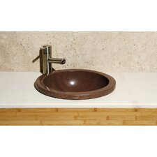 Circular Deckmount Bathroom Sink