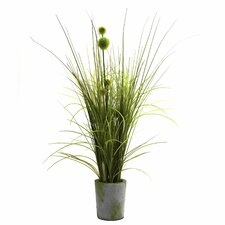 Nearly Natural Grass and Dandelion Desk Top Plant in Planter