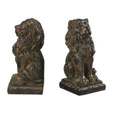 Lion Book Ends (Set of 2)