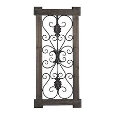 Hatfield Rectangular Scroll Work Wall Décor