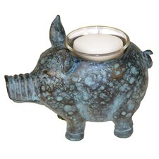 Little Pig Votive Figurine