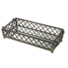 Metal Frame Mirrored Tray