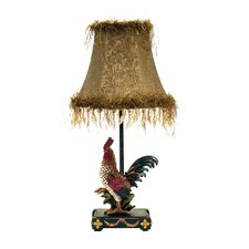 "Petite Rooster 19"" H Table Lamp with Bell Shade"