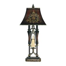 """Double Tassel 30.5"""" H Table Lamp with Bell Shade"""