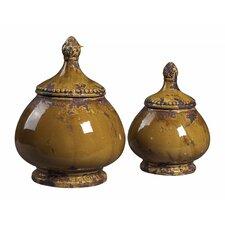 2-Piece Decorative Jar Set