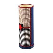 """Patriotic Up Light 15"""" H Table Lamp with Drum Shade"""
