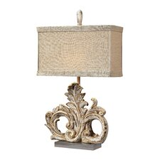 """Scroll 26"""" H Table Lamp with Rectangular Shade"""