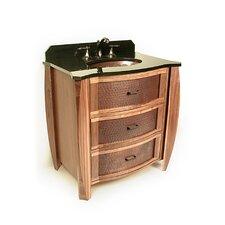"""Vanities 32"""" Single Bombay Copper Front Cabinet Bathroom Vanity Set"""