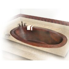 "Roberta Copper 71"" x 37"" Large Self-Rimming or Undermount Bathtub"