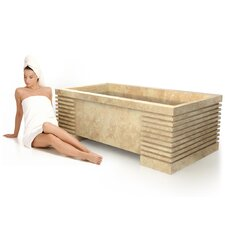 "Roma Natural Stone 72"" x 40"" Bathtub"