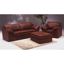 Encino Leather 3 Seat Sofa Living Room Set