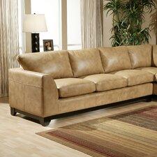 City Sleek Leather Sofa