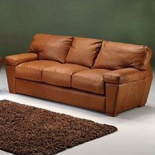 Prescott Leather Sleeper Loveseat