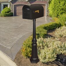 Classic Curbside Mailbox with Tacoma Mailbox Post Unit
