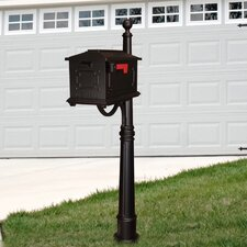 Kingston Curbside Mailbox with Ashland Mailbox Post Unit