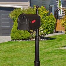 Savannah Curbside Mailbox with Ashland Mailbox Post Unit