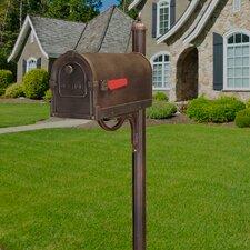 Savannah Curbside Mailbox with Richland Mailbox Post Unit
