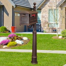 Traditional Curbside Mailbox with Ashland Mailbox Post Unit