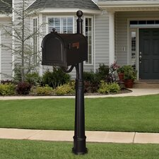 Berkshire Curbside Mailbox with Ashland Mailbox Post Unit