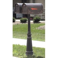 Tacoma Mailbox Post with Dual Mount