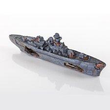 Decorative Sunken Model Battleship
