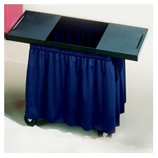 Draper Skirts for Mobile AV Carts and Tables