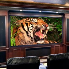 Clarion ClearSound White Weave Fixed Frame Projection Screen