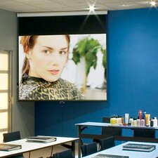 Luma Contrast White Electric Projection Screen