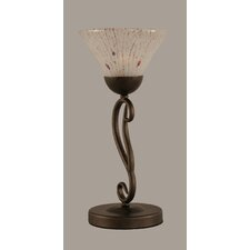 Olde Iron Mini Table Lamp with Bell Shade