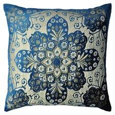 Moroccan Metallic Velvet Throw Pillow