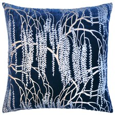 Willow Metallic Velvet Throw Pillow