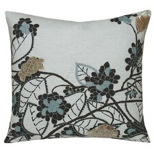 Hydrangea Embellished Decorative Throw Pillow