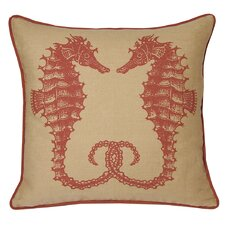 Nauticals Seahorse Throw Pillow