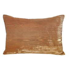 Wood Grain Velvet Lumbar Pillow