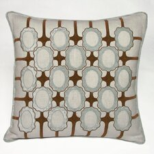 Frames Embellished Linen Throw Pillow
