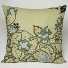 Hydrangea Embellished Throw Pillow