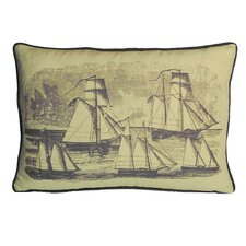 Nauticals Sailboats Lumbar Pillow