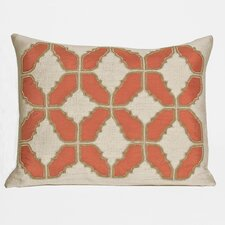 Baroque Embellished Tiles Cotton Lumbar Pillow