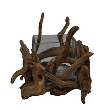 Driftwood Square Glass Decorative Bowl