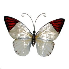 Red Tipped Butterfly Wall Decor