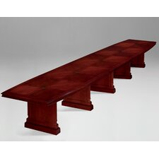 Keswick Expandable Boat Shaped Conference Table