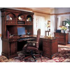 Rue De Lyon 3-Piece L-Shape Executive Desk Office Suite