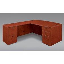 Fairplex Right / Left Bow Front L Executive Desk