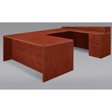 Fairplex U-Shape Executive Desk with Grommet Holes and Wire Management