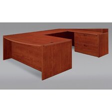 Fairplex Right / Left Executive Desk with Lateral File and Wire Management